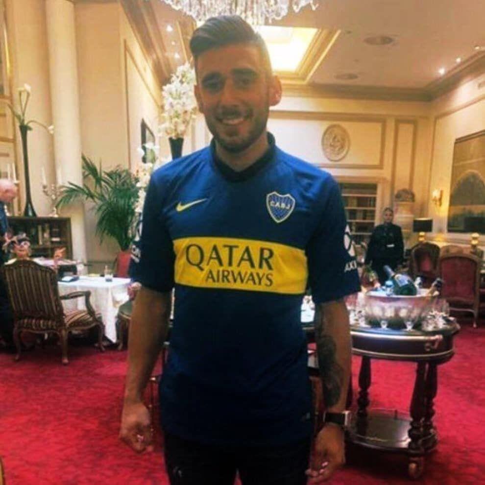 Eduardo Salvio ya se calzó la camiseta de Boca