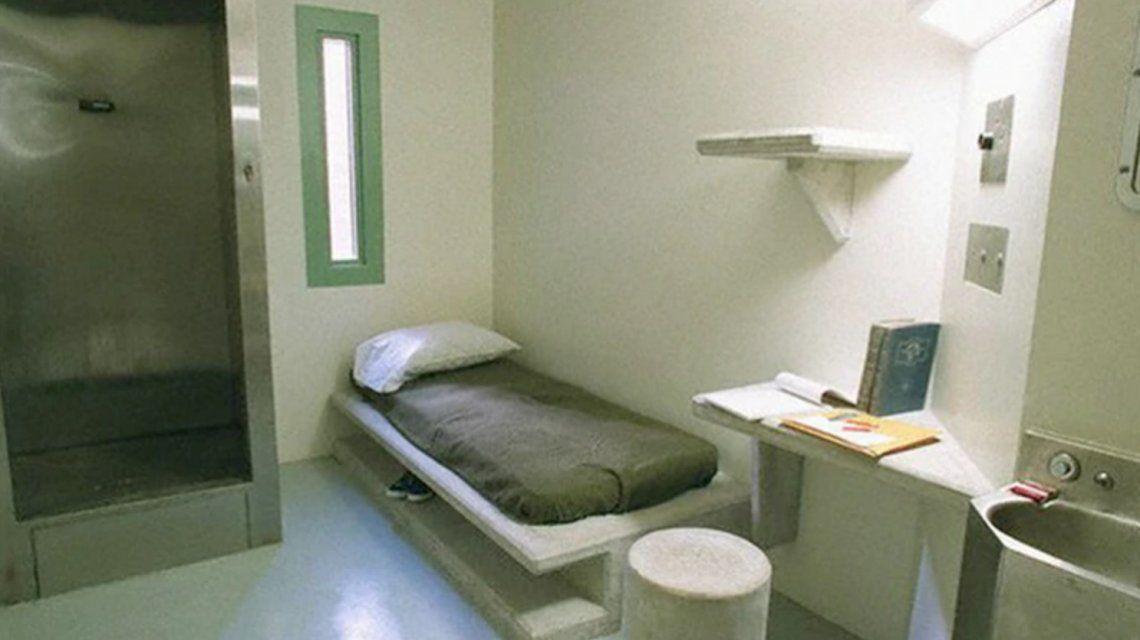 La celda donde El Chapo Guzmán cumplirá su sentencia en Colorado.
