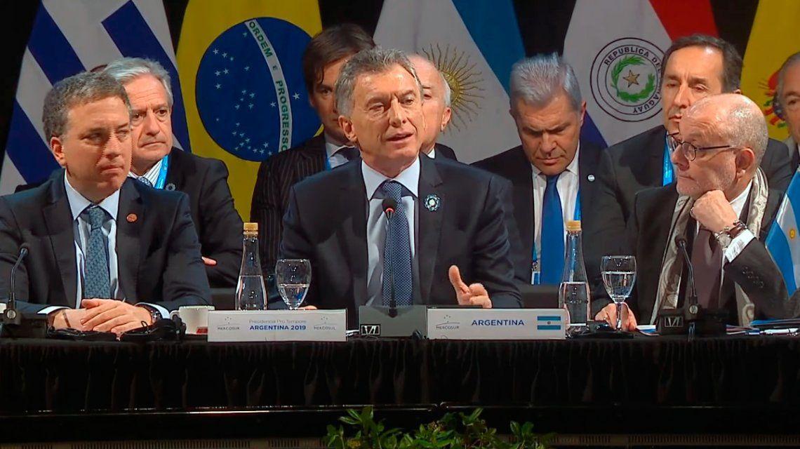 Macri, sobre el acuerdo con la Unión Europea: Va a impactar positivamente en la calidad de vida de la gente