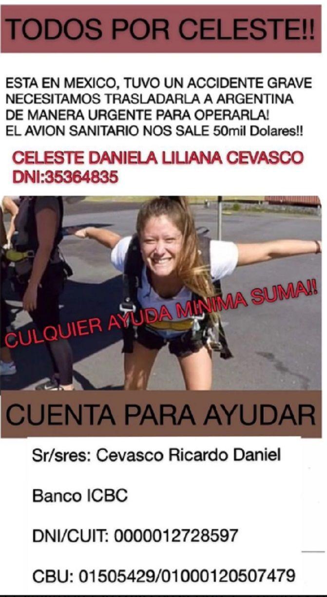Operaron con éxito a la turista argentina que se cayó de un balcón en Cancún
