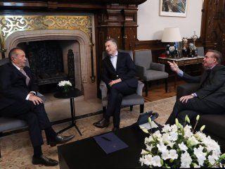 Adolfo Rodríguez Saá, Mauricio Macri y Miguel Ángel Pichetto