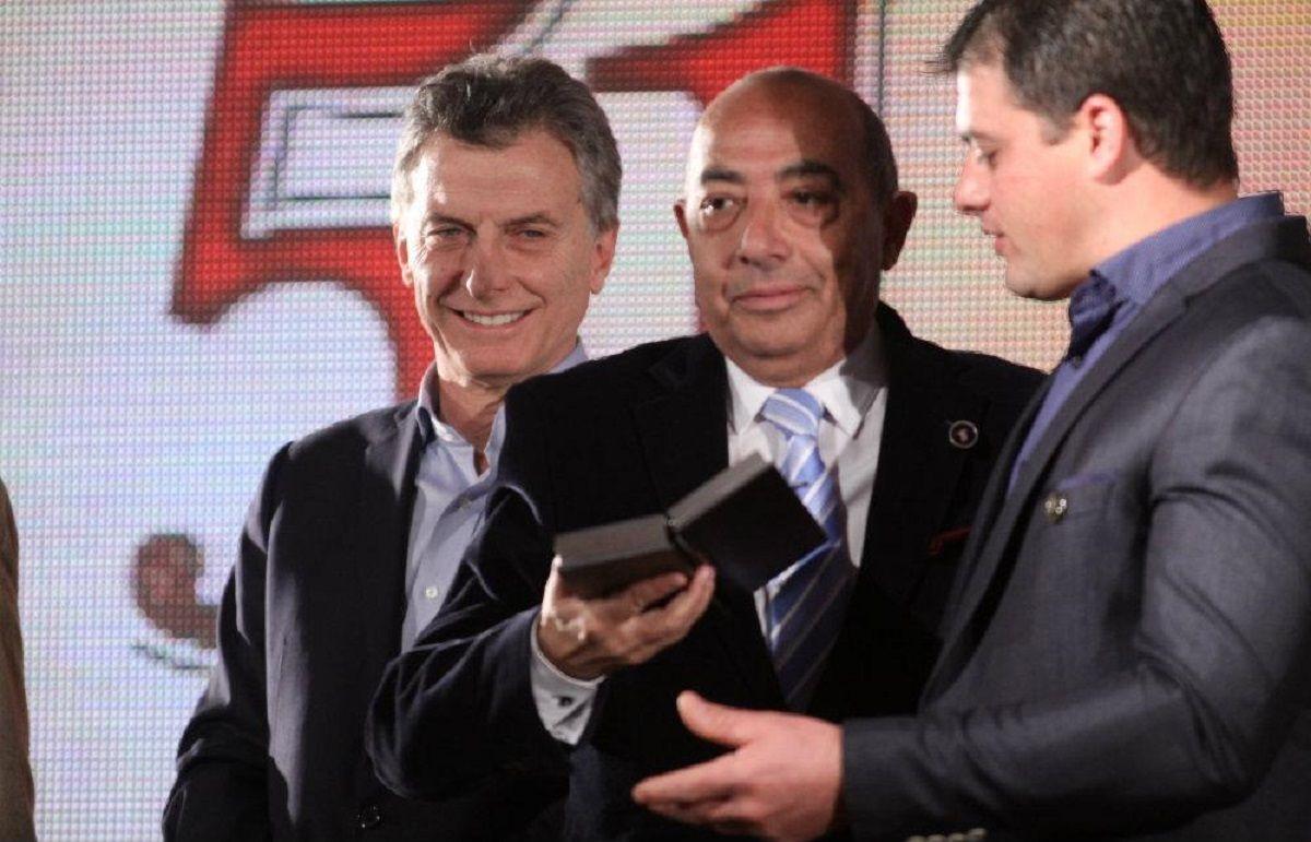Mauricio Macri con Mario Pereyra