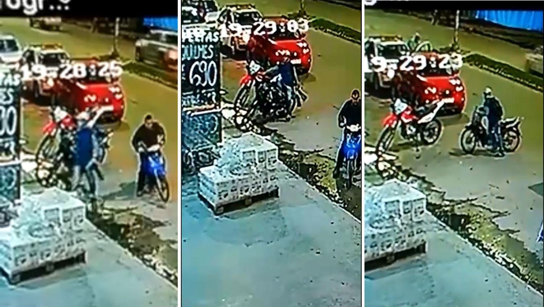 VIDEO: Frente a decenas de personas, rompió la traba de seguridad de una moto y se la llevó caminando
