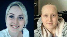 Sarah Boyle antes y después del tratamiento que no debía recibir
