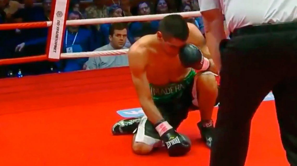 Boxeo: el KO del ruso Chudinov al argentino Maderna