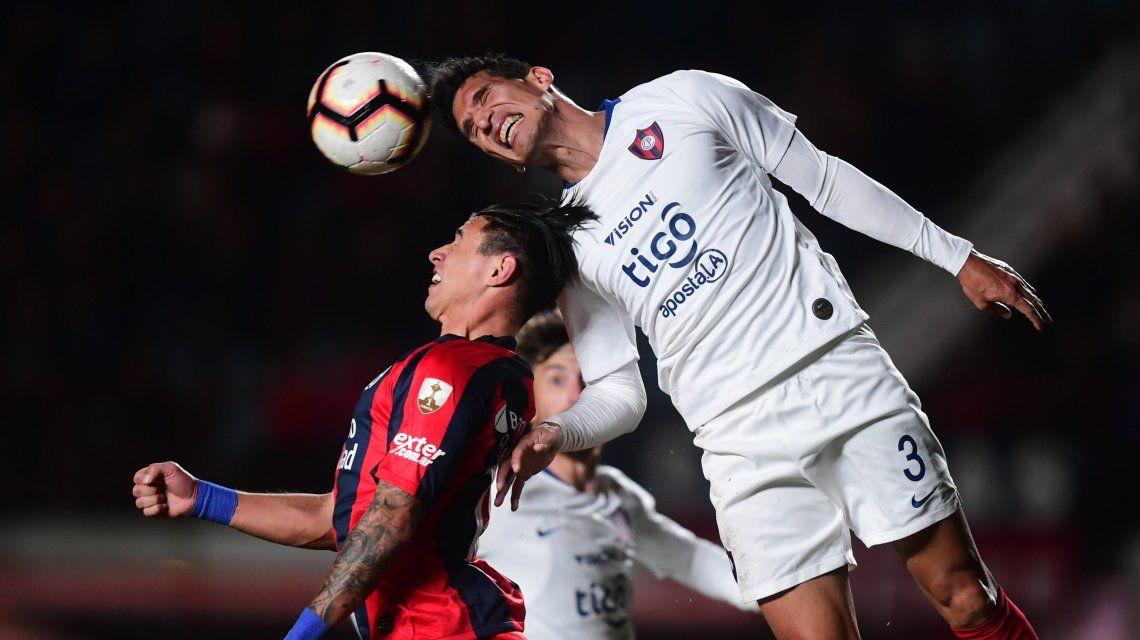 San Lorenzo empató con Cerro Porteño en la ida de los octavos de final de la Copa Libertadores