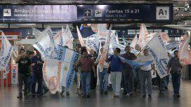 Protesta en Aeroparque