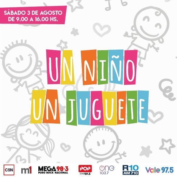 Un niño, un juguete, la nueva colecta solidaria encabezada por Justo Lamas