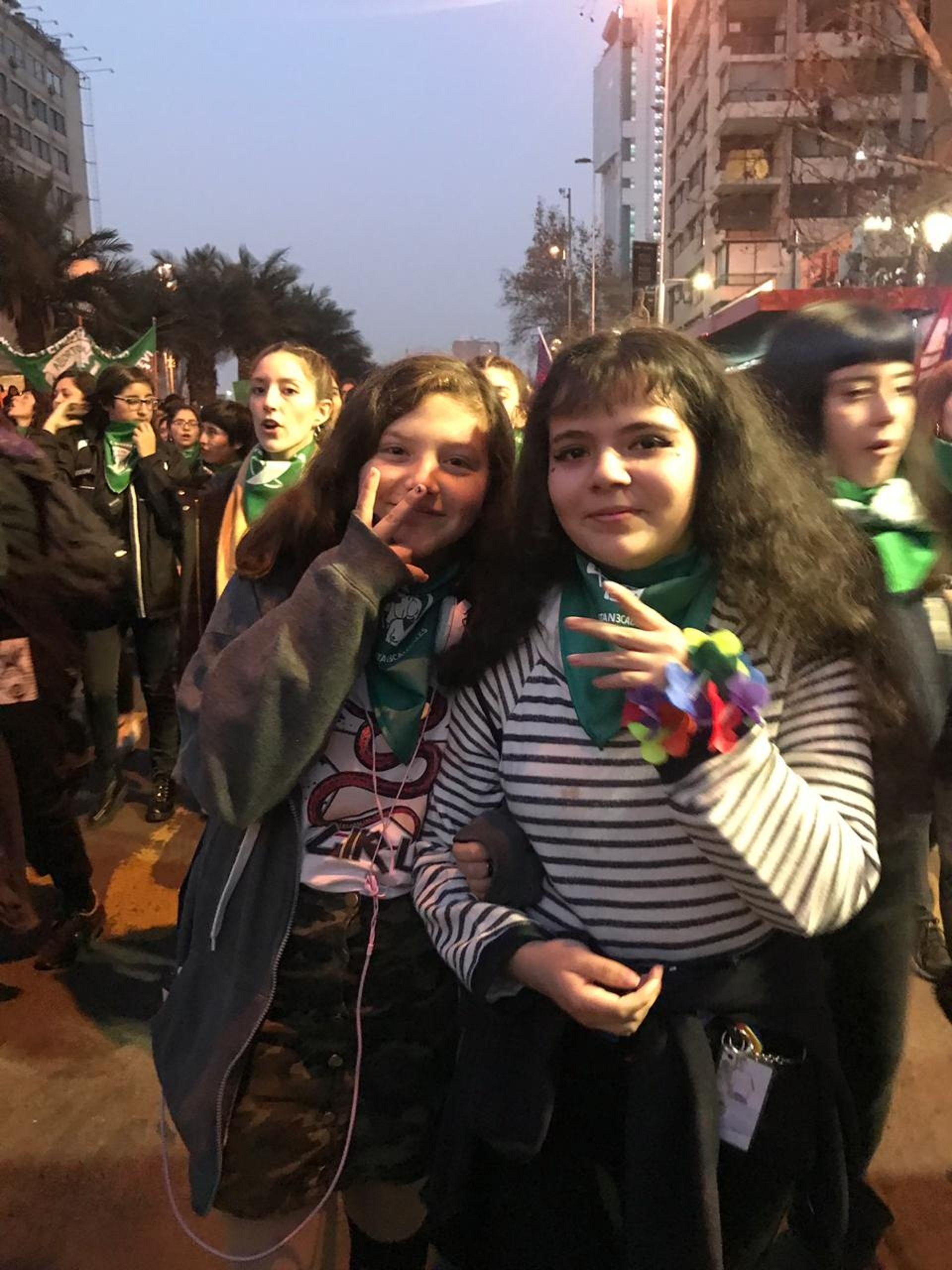minutouno.com en Chile: las mejores fotos de la Marcha Antirracista en favor del Aborto Legal