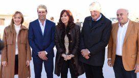 Anabel Fernández Sagasti, Sergio Uñac, Cristina Kirchner, José Luis Gioja, y Marcelo Lima