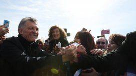 Macri durante su visita a San Luis
