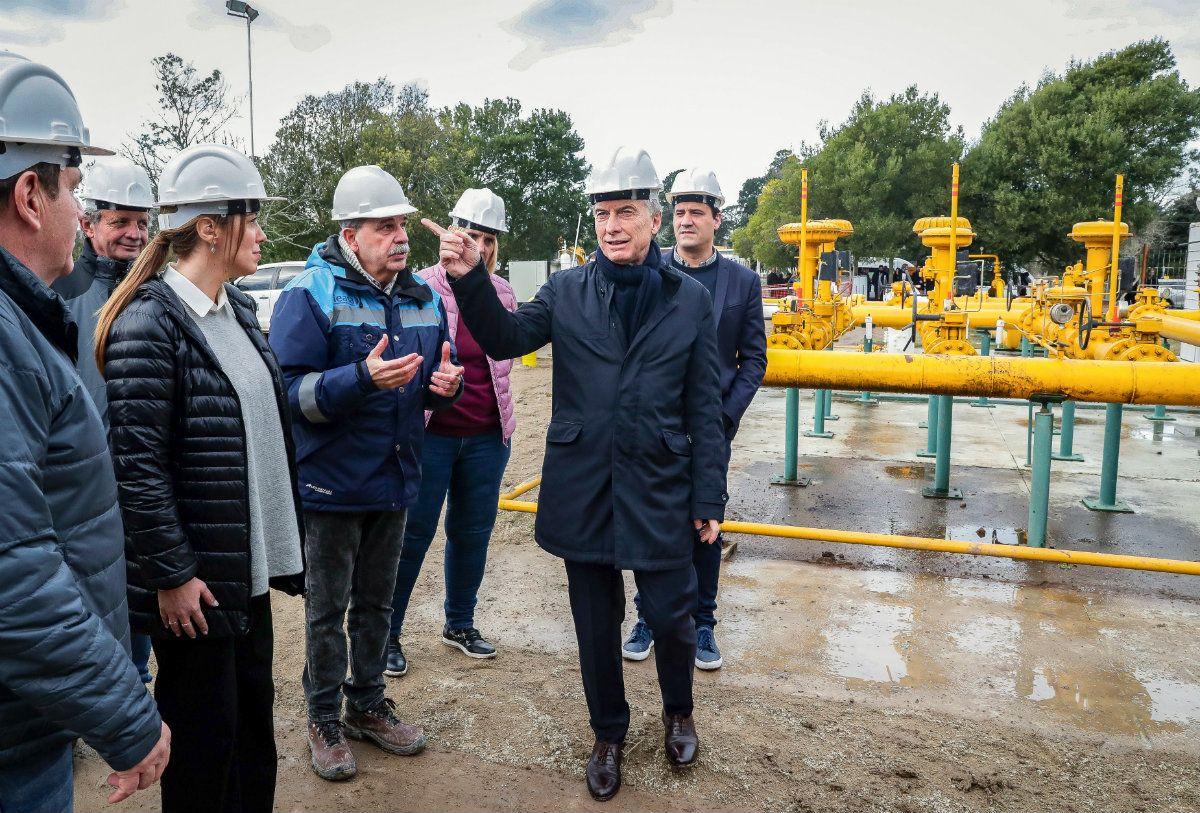 Macri y María Eugenia Vidal recorrieron este viernes las obras en el Gasoducto de la Costa