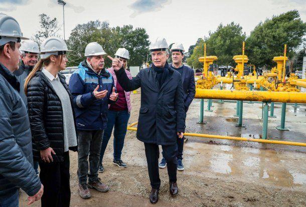 Macri y María Eugenia Vidal recorrieron este viernes las obras en el Gasoducto de la Costa, en Mar del Plata