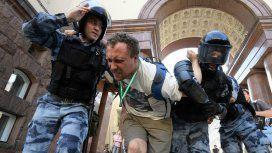 Más de 600 detenidos en Moscú en una manifestación opositora al gobierno de la ciudad