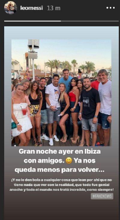 Messi denunció fake news por el video de la supuesta agresión de un hombre hacia él en Ibiza