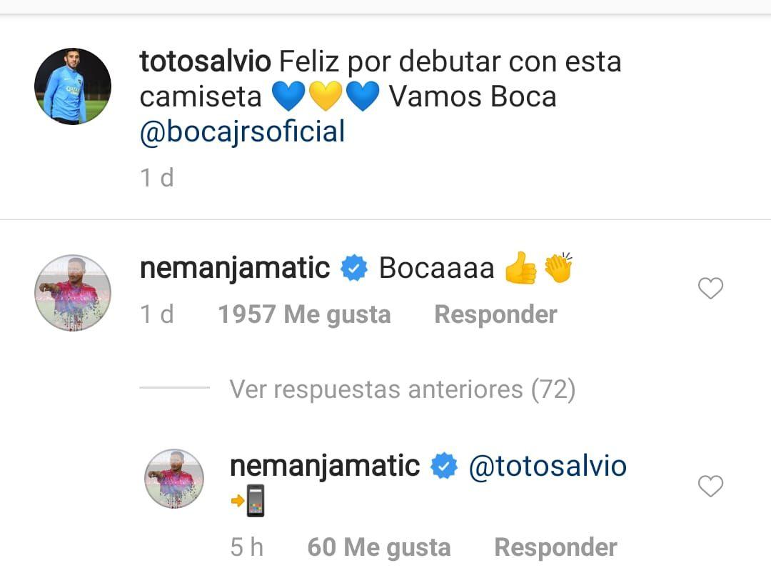 Eduardo Salvio invitó a un volante del Manchester United a jugar en Boca