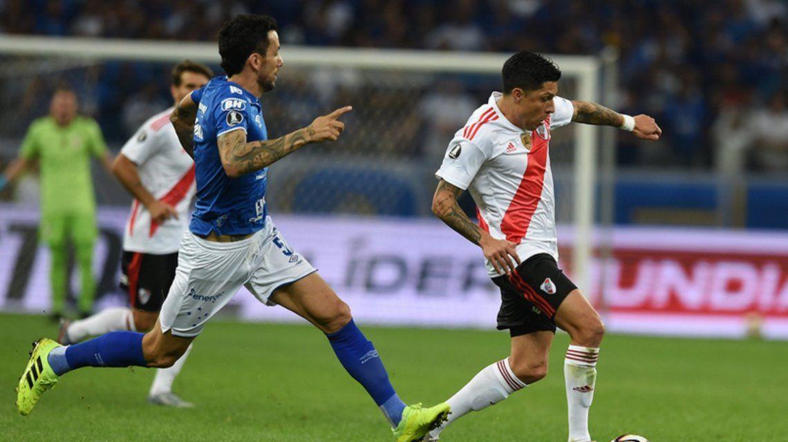 En la gran noche de Armani, River eliminó a Cruzeiro y avanzó a cuartos de final