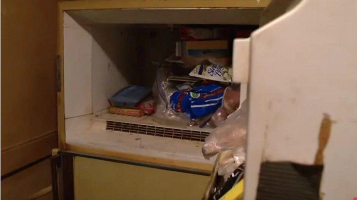 El freezer en el que Adam encontró el cadáver.