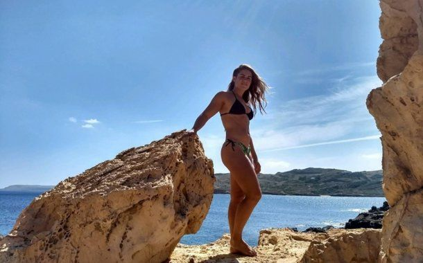 Macarena Cabruja salvó a un chico de morir ahogado en una playa en Palma de Mallorca