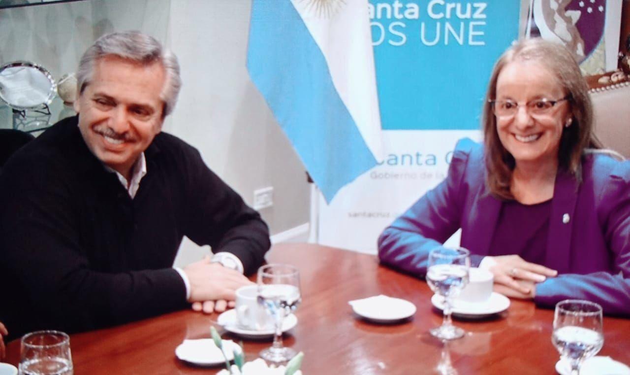 Alberto Fernández y Alicia Kirchner