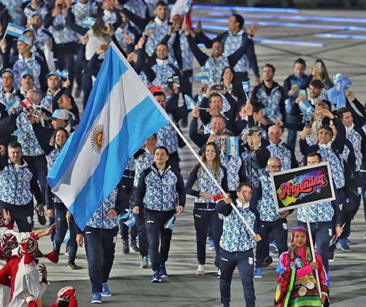 La delegación argentina
