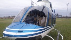 Así quedó el helicóptero del gobernador Domingo Peppo