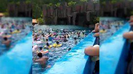 El hecho sucedió en el parque acuáticoYulong Shuiyun