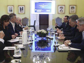 Una de las últimas reuniones de Gabinete de Mauricio Macri