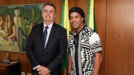 Jair Bolsonaro y Ronaldinho Gaúcho