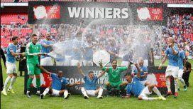 Con Otamendi como titular, Manchester City campeón de la Community Shield