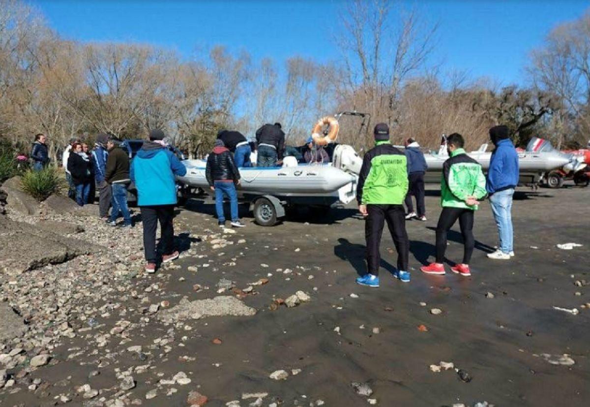 Punta Lara: buscan a dos pescadores desaparecidos en el Río de la Plata