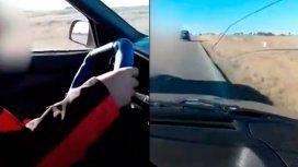 ¡Acelerá, maricón!: puso a su hijo de 10 años a manejar en la ruta y lo filmó