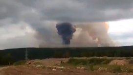 VIDEO: Así fue la explosión de un arsenal militar en Siberia