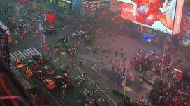 Pánico en Times Square por el ruido de una moto: lo confundieron con disparos