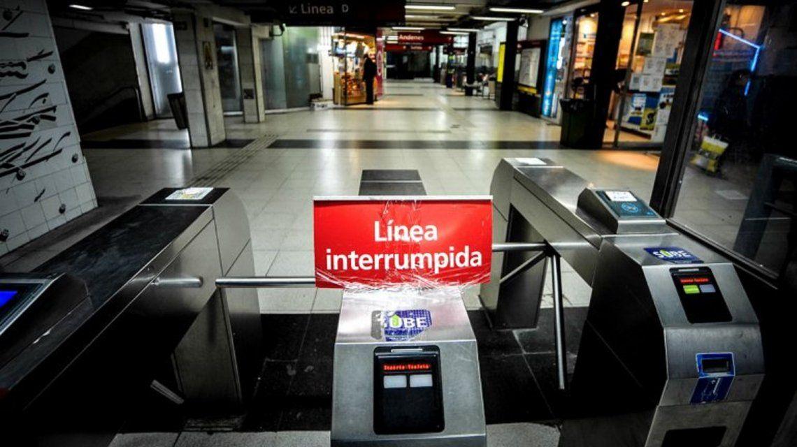 Miércoles complicado para viajar: anuncian paro de las seis líneas del subte y el premetro