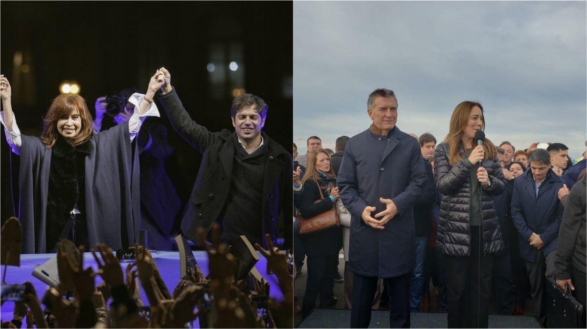Kicillof y Vidal cerrarán su campaña con Cristina Kirchner y Macri