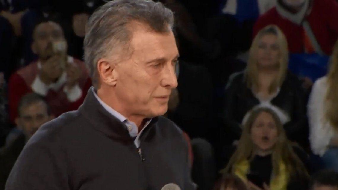 Macri lloró en el cierre de campaña y se justificó: Estoy más sensible porque es el día del gato