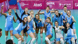 El equipo argentino tras el gran triunfo ante Brasil