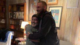Diego Maradona con Daniele de Rossi