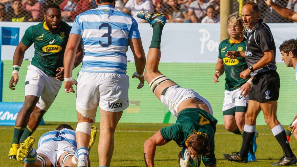 Dura derrota de Los Pumas ante los Springboks, que se consagraron campeones