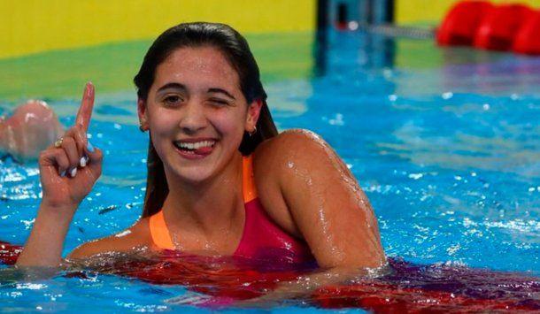 Delfina Pignatiello deslizó que se retiraría de la natación si no la dejaban prepararse para Tokio 2020 | Foto: @PrensaCOA