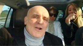 Cantando Matador y filmándose en el auto: así fue a votar José Luis Espert