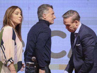 María Eugenia Vidal, Mauricio Macri y Miguel Ángel Pichetto