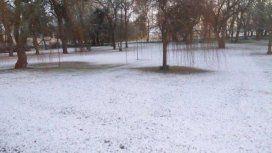 Por la ola de frío polar, nevó en Mar del Plata