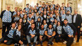 En medio de la disparada del dólar, Macri recibió a los atletas de los Juegos Panamericanos