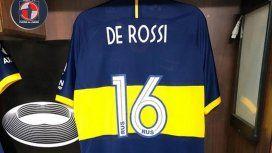 ¡Llegó el día!: La camiseta 16 ya está preparada para el debut de De Rossi en Boca