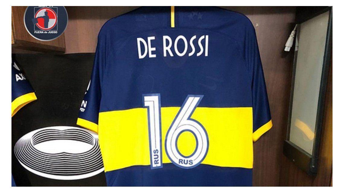La camiseta de De Rossi ya está lista para el debut con Boca
