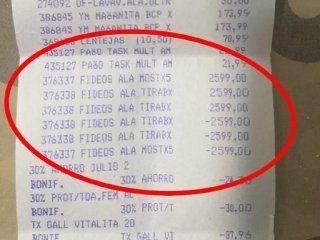 denuncian que un supermercado puso el arroz a $3.900 y los fideos a $2.599 para novenderlos