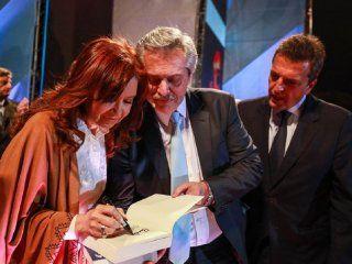 Cristina Kirchner, Alberto Fernández y Sergio Massa
