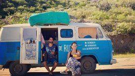 Laura, Facundo y Río recorrieron América en una combi